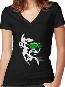 ISSA 2011 Gandhi Shades (Black) Women's Fitted V-Neck T-Shirt