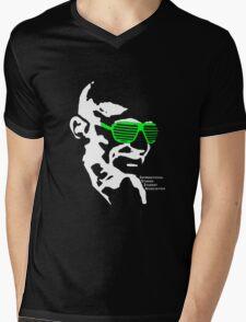ISSA 2011 Gandhi Shades (Black) Mens V-Neck T-Shirt
