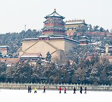 Snow at Summer Palace, Beijing, China by imagekinesis