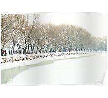 Snow at Summer Palace, Beijing, China Poster