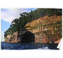 Pictured Rocks National Lakeshore Cliffs Poster