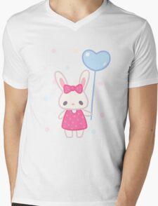 Balloon bunny Mens V-Neck T-Shirt