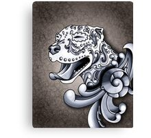 Ornamental Pit Bull Canvas Print