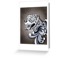 Ornamental Pit Bull Greeting Card
