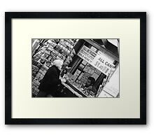 Buying Stuff, Melbourne City Framed Print