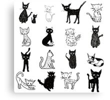 Cats, cats, cats. Canvas Print
