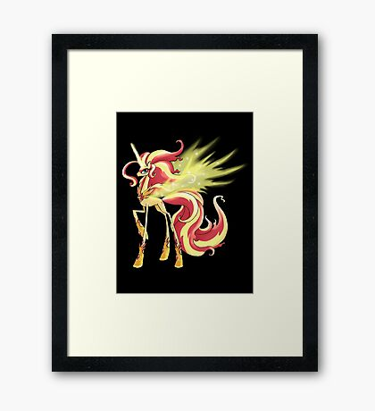 My Little Pony - MLP - Sunset Shimmer Alicorn Framed Print