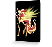 My Little Pony - MLP - Sunset Shimmer Alicorn Greeting Card