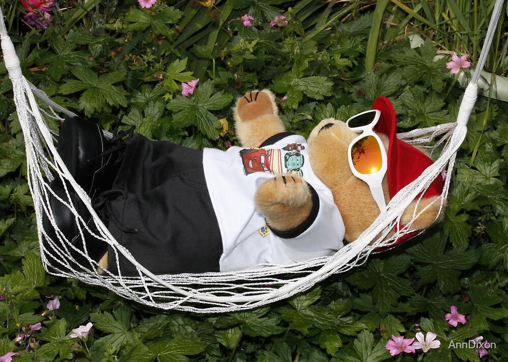 Teddy Sunbathing in the Garden by AnnDixon