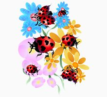 Lucky-Love Ladybugs Womens Fitted T-Shirt