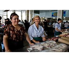 Butcher Ladies Photographic Print