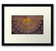 Ceiling, Amur Timur Mausoleum Framed Print