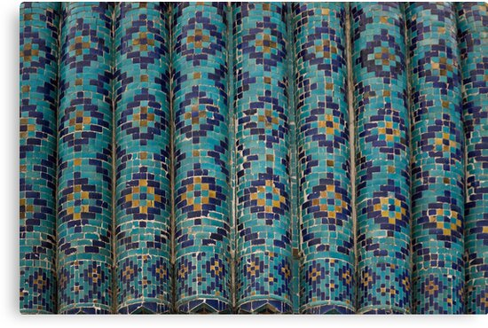 Tiles, Amur Timur Mausoleum by Gillian Anderson LAPS, AFIAP
