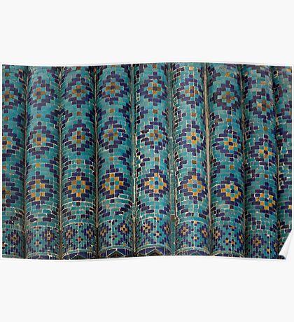 Tiles, Amur Timur Mausoleum Poster