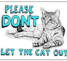 Cat Sign - Blue by Meaghan Roberts
