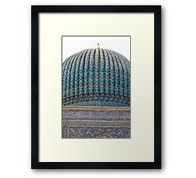 Dome of Amur Timur Mausoleum Framed Print