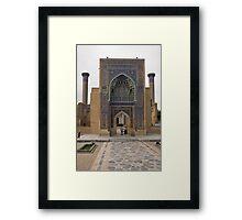 Front gate, Amur Timur Mausoleum Framed Print