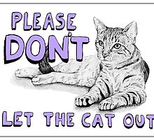 Cat Sign - Purple by Meaghan Roberts