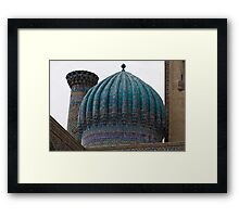 Crinkled dome, Registan Framed Print