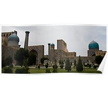 Registan Square from behind Poster