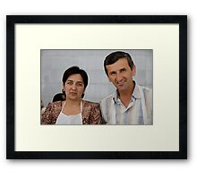 Market Couple Framed Print