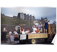1960 Bathing Bells, parade, Isle of Man Poster