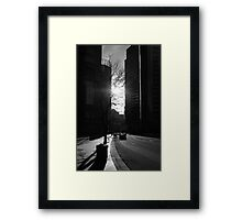 Canyon In The City Framed Print