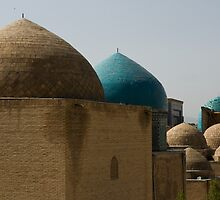 Domes at Shah-i-Zinda by Gillian Anderson LAPS, AFIAP