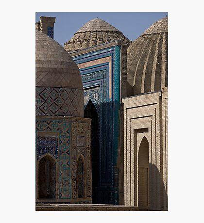 Looking down the street, Shah-i-Zinda Photographic Print