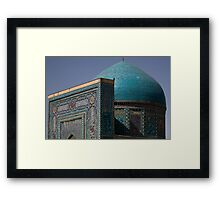 Blue dome Shah-i-Zinda Framed Print