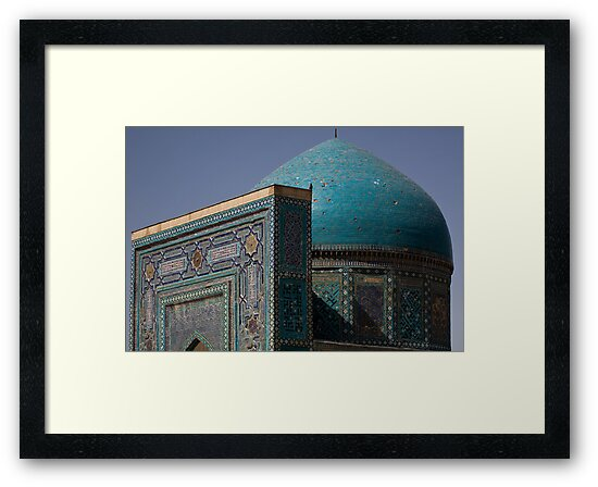 Blue dome Shah-i-Zinda by Gillian Anderson LAPS, AFIAP