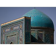 Blue dome Shah-i-Zinda Photographic Print