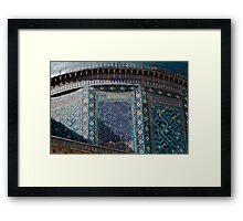 Detail, Shah-i-Zinda Framed Print