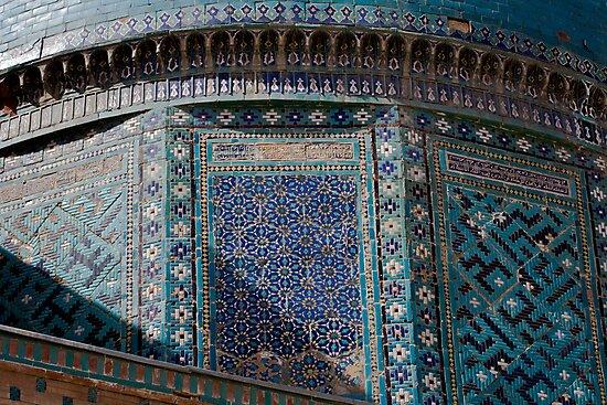 Detail, Shah-i-Zinda by Gillian Anderson LAPS, AFIAP