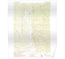 USGS Topo Map Oregon The Bull Pasture 281774 1988 24000 Poster