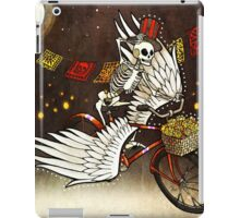 Skeleton on a Bike iPad Case/Skin