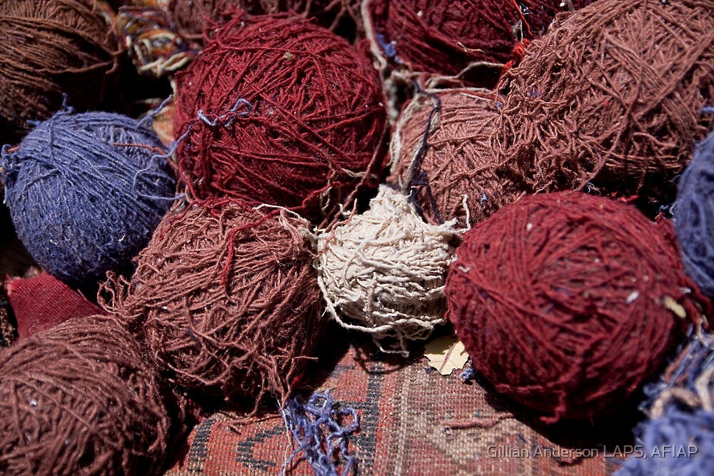 Carpet workshop threads by Gillian Anderson LAPS, AFIAP