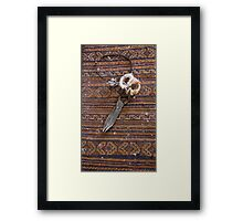 Carpet Making tool Framed Print