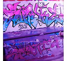 Pink and Blue Tag Photographic Print
