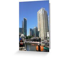 quietly in harbour Greeting Card