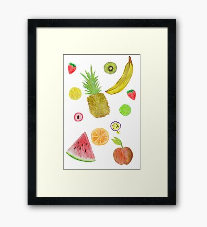 Fruit Fight! Framed Print