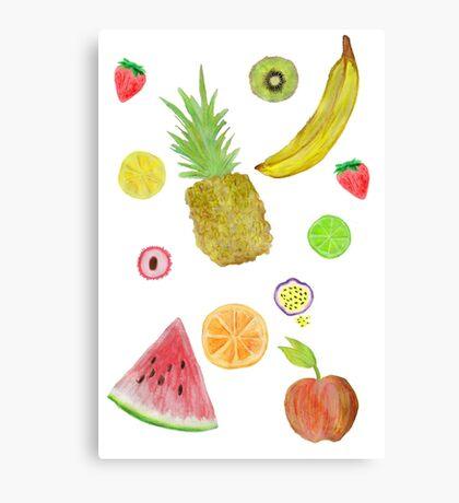 Fruit Fight! Canvas Print