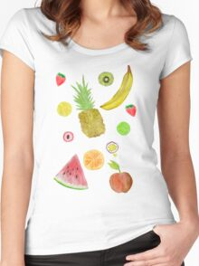Fruit Fight! Women's Fitted Scoop T-Shirt