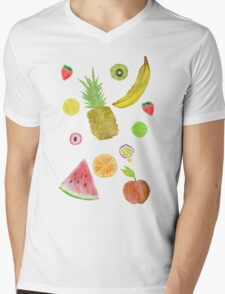 Fruit Fight! Mens V-Neck T-Shirt