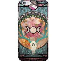 Lunar Deer Skull iPhone Case/Skin