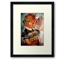 STUCK IN TIME-OUT Framed Print