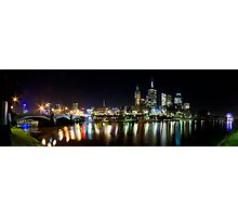Melbourne across the Yarra Photographic Print