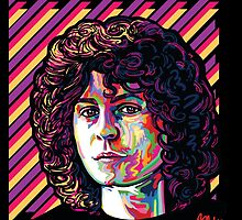 Myth, legend, tyrannosaurus of glam, Marc Bolan by Blake Chamberlain