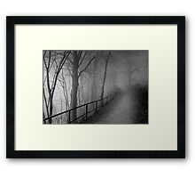 Dark way Framed Print