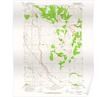 USGS Topo Map Oregon Buck Butte 279167 1963 24000 Poster